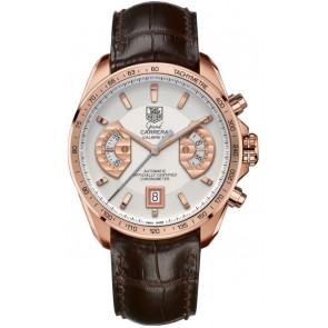 Pasek do zegarka Tag Heuer CAV514B / BX0849 / BX0870 XL Skóry krokodyla Brązowy 22mm