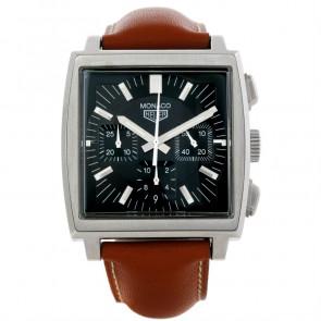 Pasek do zegarka Tag Heuer CS2111-BC0788 Skórzany Brązowy 22mm
