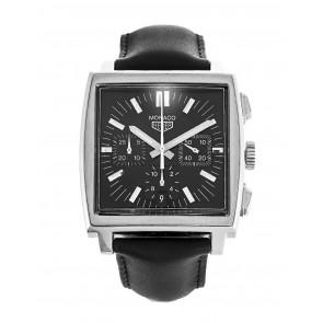 Pasek do zegarka Tag Heuer CS2111-BC0787 Skórzany Czarny 22mm