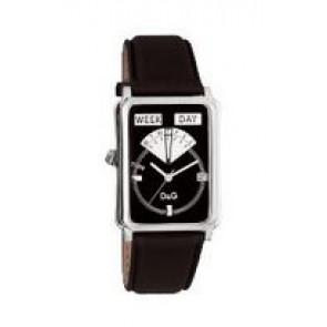 Pasek do zegarka Dolce & Gabbana DW0122 Skórzany Czarny