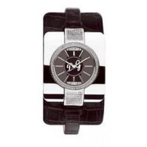 Pasek do zegarka Dolce & Gabbana DW0161 Skórzany Czarny