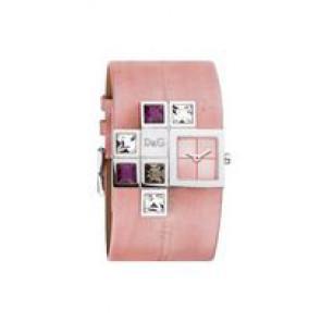 Pasek do zegarka Dolce & Gabbana DW0176 Skórzany Różowy