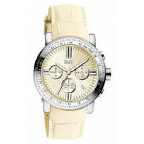 Pasek do zegarka Dolce & Gabbana DW0678 Skórzany Beżowy 22mm