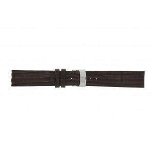 Elysee horlogeband Ely.02 Leder Donkerbruin 20mm + bruin stiksel