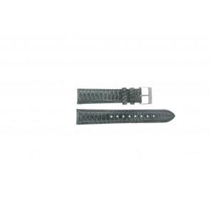 Esprit horlogeband ES103062 / 819660 Leder Grijs 18mm + grijs stiksel