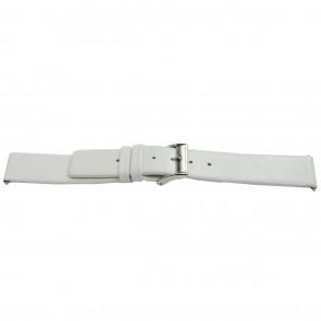 Pasek do zegarka Uniwersalny J510 Skórzany Biały 26mm