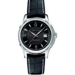 Pasek do zegarka Hamilton H001.32.515.535.01 / H600325101 Skórzany Czarny 20mm