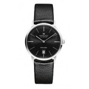 Pasek do zegarka Hamilton H384551 / H38455751 / H600384105 Skórzany Czarny 20mm