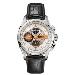Horlogeband Hamilton H32696751 Leder Zwart 22mm