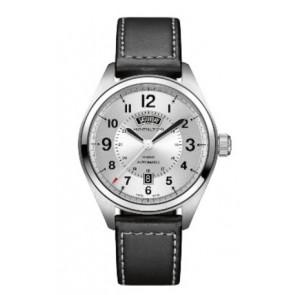 Pasek do zegarka Hamilton H001.70.505.753.01 Skórzany Czarny 20mm