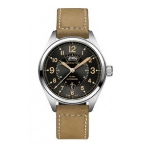 Pasek do zegarka Hamilton H001.70.505.833.01 Skórzany Beżowy 20mm