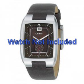 Pasek do zegarka DKNY NY1319 Skórzany Brązowy 20mm
