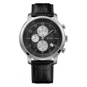 Pasek do zegarka Hugo Boss HB-137-1-14-2352 Skórzany Czarny 22mm