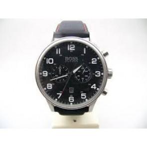Pasek do zegarka Hugo Boss HB.199.114.2570 Skóra/Tworzywo sztuczne Czarny 22mm