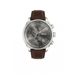 Pasek do zegarka Hugo Boss HB-297-1-14-2956 / HB659302764 Skórzany Ciemny brąz 22mm