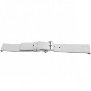 Pasek do zegarka Uniwersalny F520 Skórzany Biały 18mm