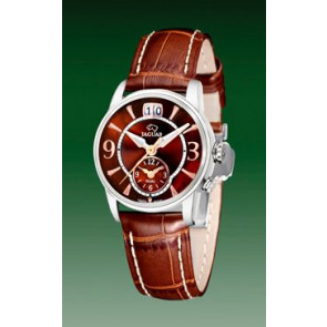 Pasek do zegarka Jaguar J624-6 Skórzany Brązowy 17mm