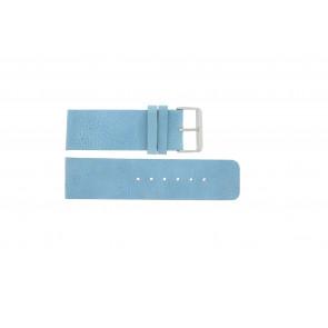 Pasek do zegarka Uniwersalny J625 Skórzany Niebieski 26mm