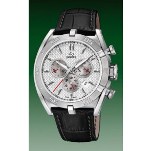 Pasek do zegarka Jaguar J857-1 / J857-4 / J857-5 / J857-7 Skórzany Czarny