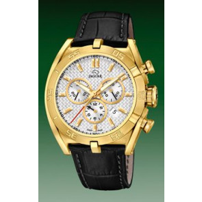 Pasek do zegarka Jaguar J858-1 / J858-3 Skórzany Czarny