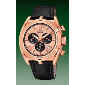 Pasek do zegarka Jaguar J859-1 / J859-3 Skórzany Czarny