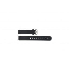 Jacob Jensen horlogeband 750 Shine / 755 / 756 / 757 / 760 Rubber Zwart 17mm