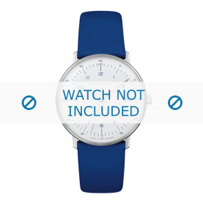 Pasek do zegarka Junghans 047/4540.00 Skórzany Niebieski 18mm