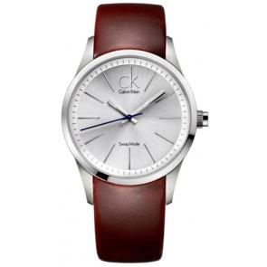 Pasek do zegarka Calvin Klein K2241138 Skórzany Brązowy