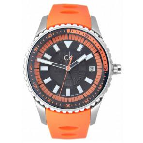 Pasek do zegarka Calvin Klein K32112 Gumowy Pomarańczowy