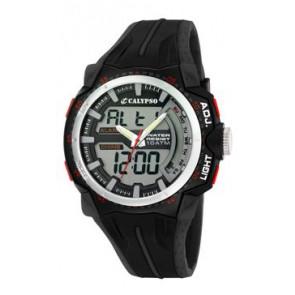 Pasek do zegarka Calypso K5539-1 Gumowy Czarny