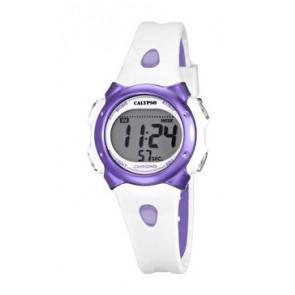 Pasek do zegarka Calypso K5609-2 Gumowy Biały