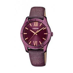 Pasek do zegarka Calypso K5718/5 Skórzany Purpurowy 17mm