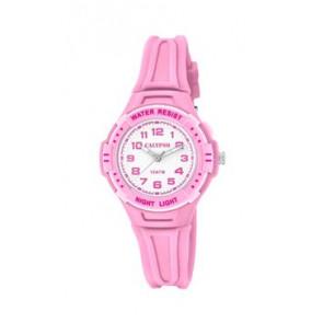 Pasek do zegarka Calypso K6070-1 Gumowy Różowy