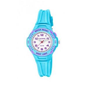 Pasek do zegarka Calypso K6070-2 Gumowy Jasny niebieski