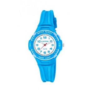 Pasek do zegarka Calypso K6070-3 Gumowy Niebieski