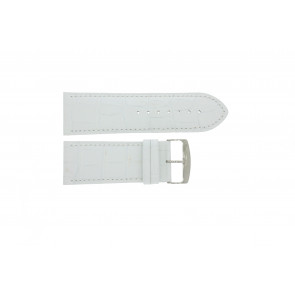 Pasek do zegarka Uniwersalny 305.09 Skórzany Biały 30mm