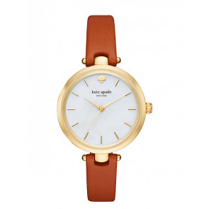 Pasek do zegarka Kate Spade New York KSW1156 Skórzany Brązowy 6mm