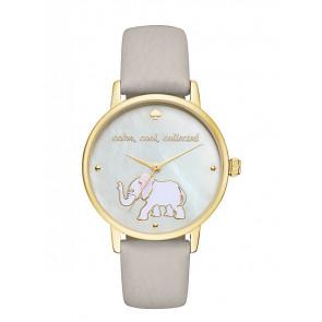 Kate Spade New York horlogeband KSW1208 / METRO Leder Grijs