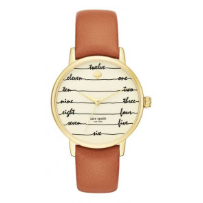 Pasek do zegarka Kate Spade New York KSW1237 Skórzany Brązowy 16mm