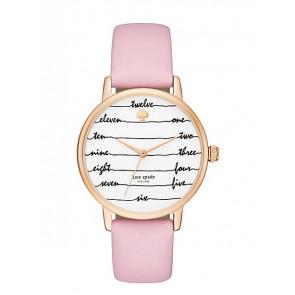 Pasek do zegarka Kate Spade New York KSW1239 Skórzany Różowy