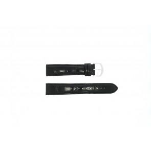 Lorus horlogeband 19MM Leder Zwart 19mm + zwart stiksel