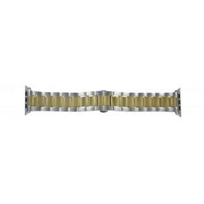 Pasek Do Zegarka Dla Apple Zegarek Bi-Color Złoty Metal 42mm