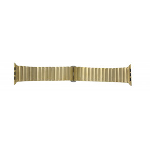 Pasek Do Zegarka Dla Apple Zegarek Złoty Metal 42mm