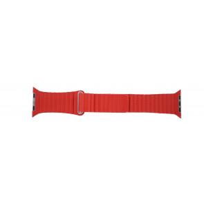 Pasek Do Zegarka Dla Apple Zegarek Skóra Czerwony 42mm