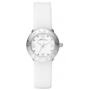 Pasek do zegarka Marc by Marc Jacobs MBM8553 Skórzany Biały 15mm