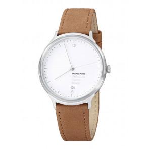 Pasek do zegarka Mondaine MH1.L2210.LG BM20164 Skórzany Jasnobrązowy 20mm
