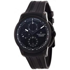 Pasek do zegarka Maurice Lacroix PT6188 / ML640-000027 Gumowy Czarny