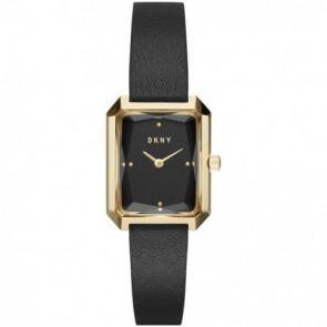 Horlogeband DKNY NY2644 Leder Zwart 12mm