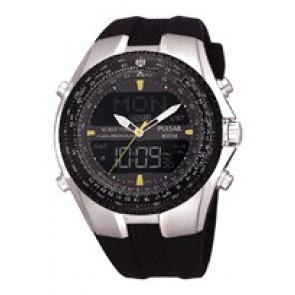 Pasek do zegarka Pulsar NX14-X00101 Krzem Czarny