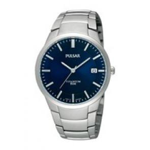Pasek do zegarka Pulsar VJ42 X021 / PS9009X1 / PS9011X1 / PS9013X1 / PH280X Tytan Szary